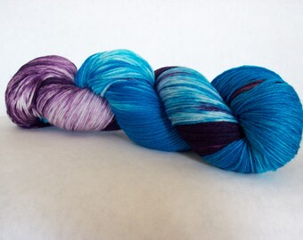 Hand Dyed Yarn/Superwash merino/nylon/Sock Yarn/May Day