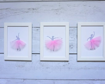 Set of 3 Prints - Ballerina - nursery decor