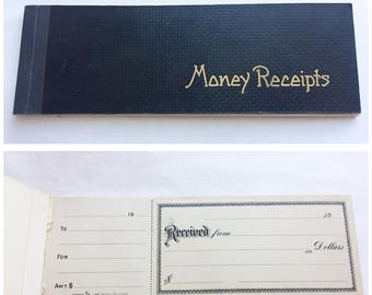 Ca 1900 Antique Receipt Book Pad Unused