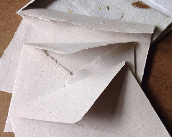 10 handmade paper envelopes, handmade paper, recycled paper, eco friendly paper, invitation envelopes, homemade paper envelopes