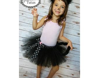 Black cat tutu set| Kitty tutu costume | Newborn- Adult XXXL Listing