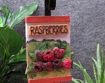 Raspberries garden marker
