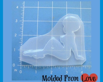 African Beauty No. 2  Mud Flap Girl    Plastic Resin Mold