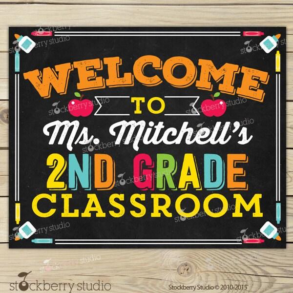 Classroom welcome sign classroom sign classroom decor zoom pronofoot35fo Gallery