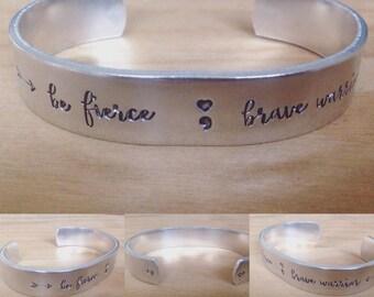 Br fierce brave warrior... cuff bracelet...