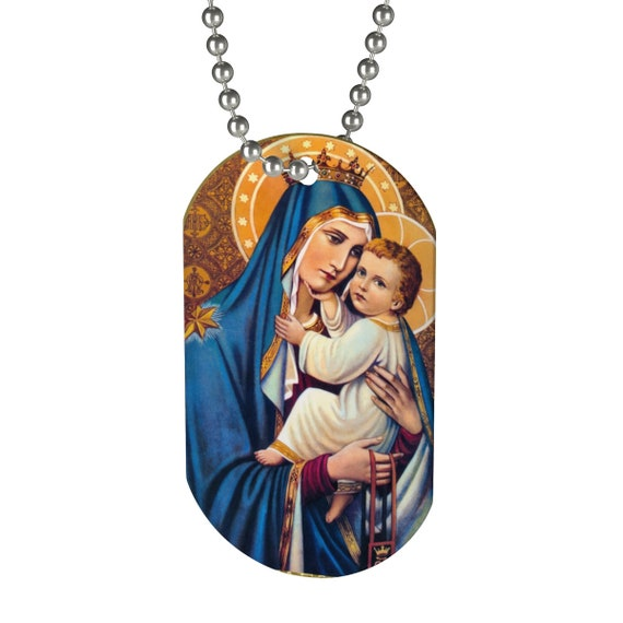 Our Lady Of Mount Carmel Dog Tag Necklace