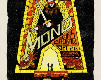 MONO (the band) screenprinted gigposter October 2012
