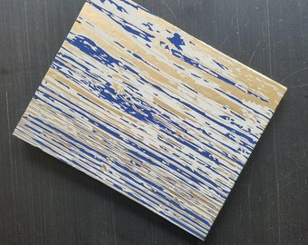 8x10 Sketchbook Coptic Stitch with Blue Wood Grain cover and  Stonehenge Paper