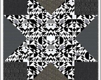 Libs Elliott The Star Power Quilt Pattern, Modern Quilt, Geometric Quilt, Fun Quilt Pattern