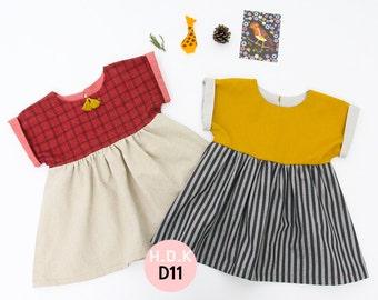 Girl's dress / baby sewing pattern pdf/ girls dress / gather dress/ children clothing/Toddler sewing pattern/ 6M-7years