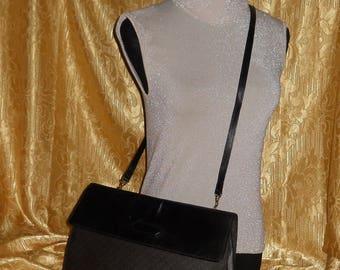 Genuine vintage Lanvin bag - canvas and genuine leather
