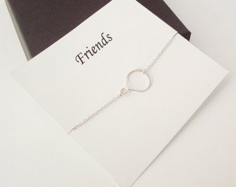 Eternity Infinity Sterling Silver Bracelet ~~Personalized Jewelry Gift Card for Friend, Best Friend, Sister, Cousin, Step Mom, Bridal Party