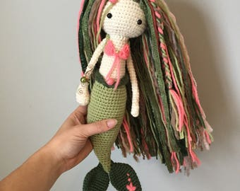 Custom Crochet Mermaid / Crochet Mermaid Doll / Amigurumi Mermaid / Crochet Doll / Childs Room Decor