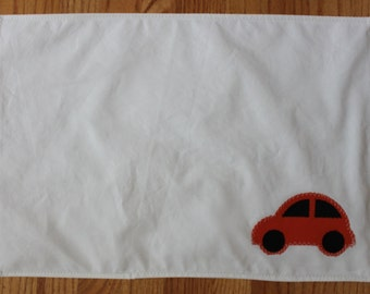 recycled orange car sail placemat