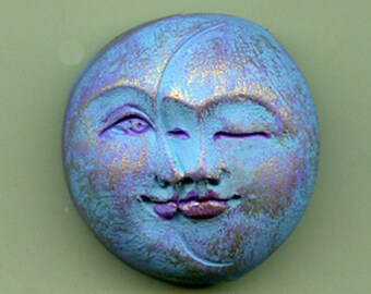 Sun and Moon Cab Turquoise, purple, gold 1 Inch  NTSM