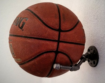 Basketball holder, Football Holder, Memorabilia Display, Sports Memorabilia, Industrial Decor, Ball Holder