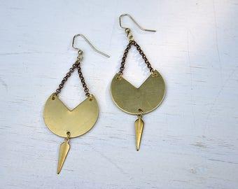 Brass Sway Earrings // Brass //