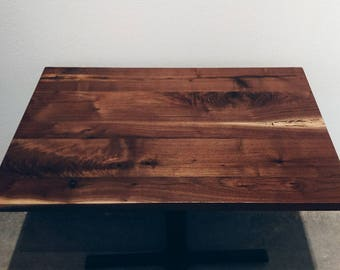 Hardwood Restaurant & Cafe Tables, Plank Style, Walnut