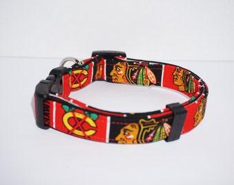 NHL Blackhawks Dog Collar