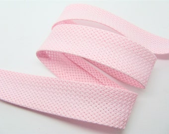 2.5 cm bias tape cotton pink Bunting - ref 33