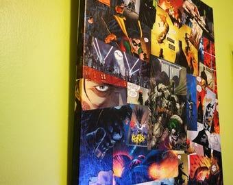Batman Comic Book Canvas Art
