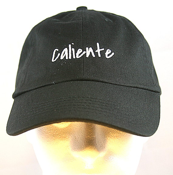 Caliente - Polo Style Ball Cap (Black with White Stitching)