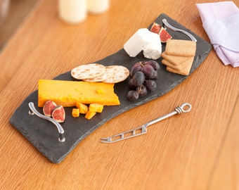 Slate Wave Tray Cheese Board 50x18cm