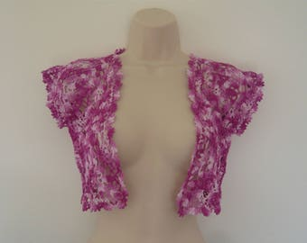 SHIPPING offered crochet Bolero