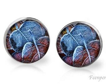 Stud Earrings Frosted 11