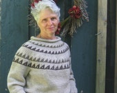Gray Pullover Wool Sweate...