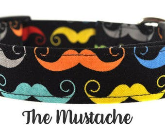 The Mustache - Multicolored Dog collar