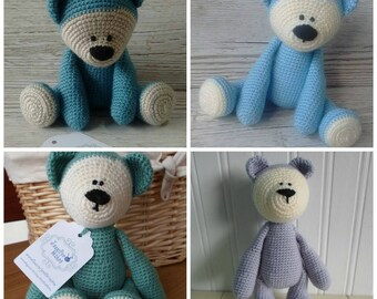 Custom Order Teddy Bear, Made To Order, Crochet Teddy Bear, Baby Gift, Birthday, Christmas, new baby gift, baby shower