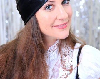 Fashion Turban Hat in Black Metallic - Headwrap Turbans for Women by Mademoiselle Mermaid - Lots of Colors
