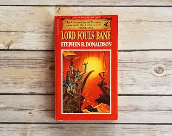 Lord Foul's Bane The Chronicles Of Thomas Covenant The Unbeliever Book One Hipster Sci Fi Gift Mens Birthday Alternate Universe Hero Novel