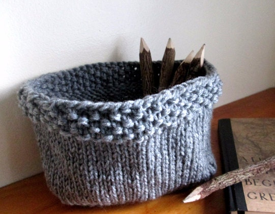 Knit Basket Pattern Knitted Bowl Pattern Diy Knit Basket