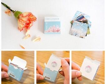 40PCS, Set of Sakura Seal Stickers,Packaging Sticker,Gift Wrapping,Envelope Letter Seals,Scrapbooking,Diary Deco,Baking Seals