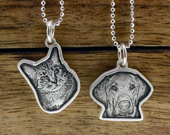 Engraved Photo Pet Charm