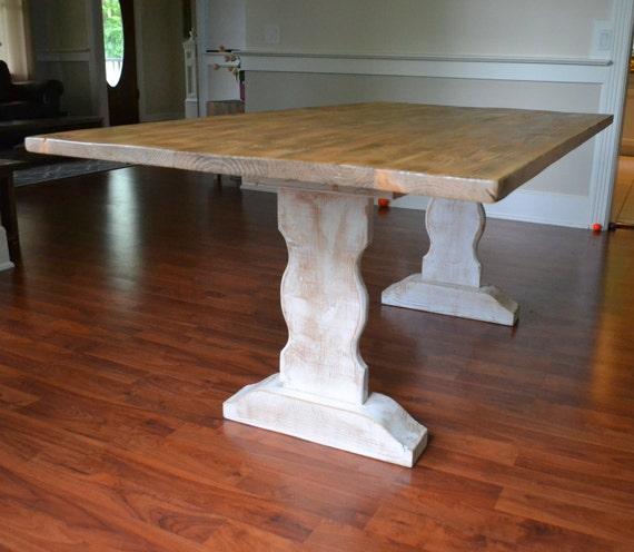 White Wash Wood Dining Table: Farm Table Reclaimed Wood Dining Table Whitewash Dining