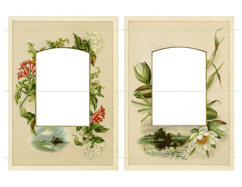Instant download vintage flowers frames large frames vintage this is a digital file jeuxipadfo Gallery