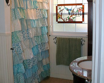 Custom Ruffled Curtains - Patchwork Style Starting at: