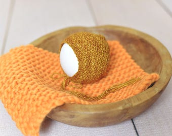 newborn bonnet/mini knit basket stuffer