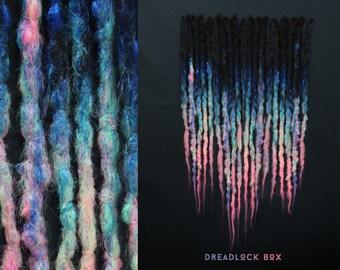 Colorful Crocheted Dreadlocks | Rainbow Dreads | Hand Made | Pieces 10-100