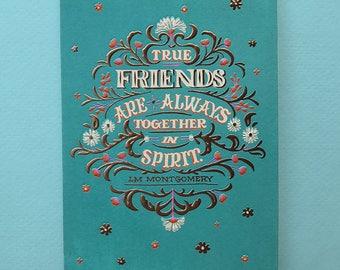 True Friends Are Always Together In Spirit – Friendship Card