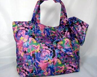 Clearance Boho Summer Mini Tote Bag Purple Boho Purse Travel Bag Beach Bag Gym Bag  Womens Tote Bags Light Weight Tote Bag Summer Purse