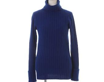 Women Cashmere Wide Rib Knit Turtleneck Pullover - 100% Premium Cashmere