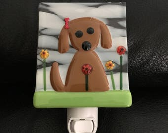 Dog with bow! Free shipping (US)