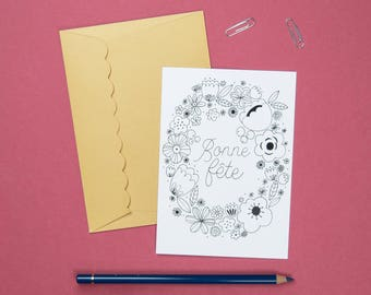 "Postcard ""Happy birthday"""