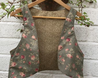 SALE Two In One Reversible Mix And Match Waistcoat, Festival Vest