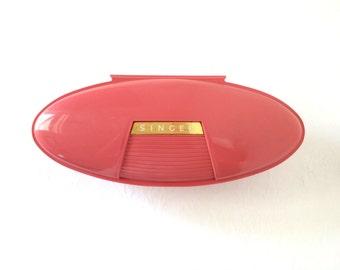 Vintage Singer Pink Buttonholer Retro Sewing Gadget