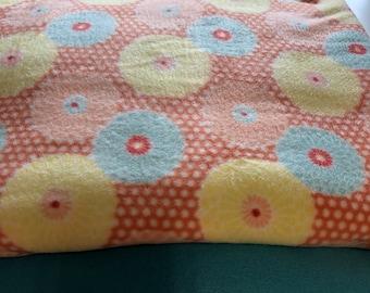 Throw Blanket Orange Bursts Flowers